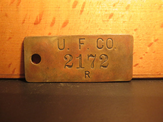 UFCO Brass Inventory Tag 2172