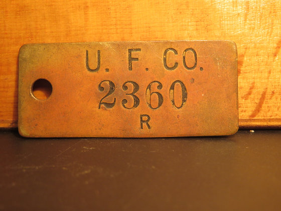 UFCO Brass Inventory Tag  2360