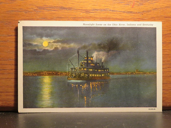 Moonlight Scene on the Ohio River, Indiana and Kentucky
