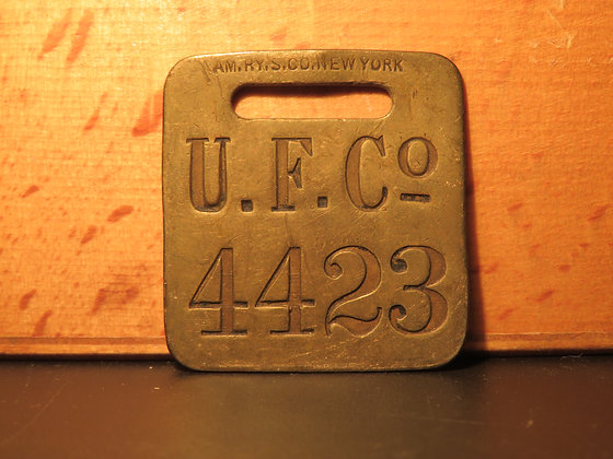 UFCO Brass Luggage Tag 4423
