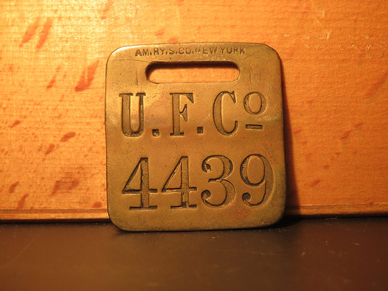 UFCO Brass Luggage Tag 4439