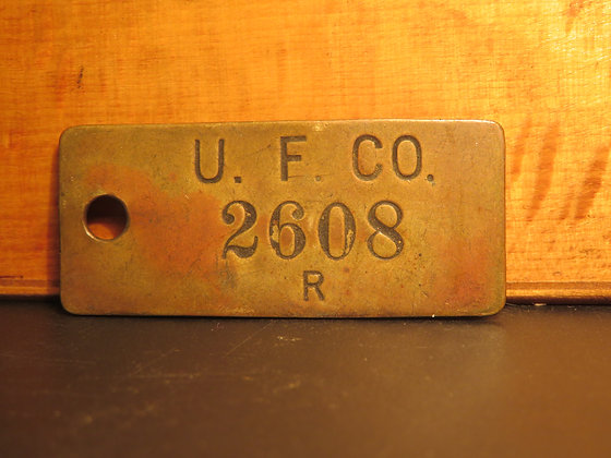 UFCO Brass Inventory Tag  2608