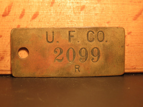 UFCO Brass Inventory Tag 2099