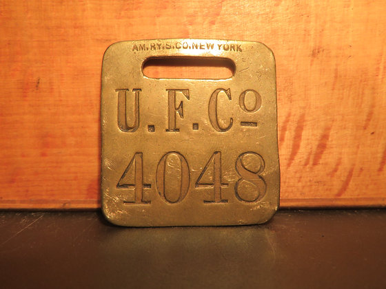 UFCO Brass Luggage Tag 4048