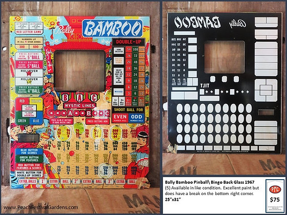 Bally Bamboo Bingo Backglass