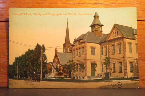 Central School, Trinity and Congregational Church, Barrie, Ontario, Canada