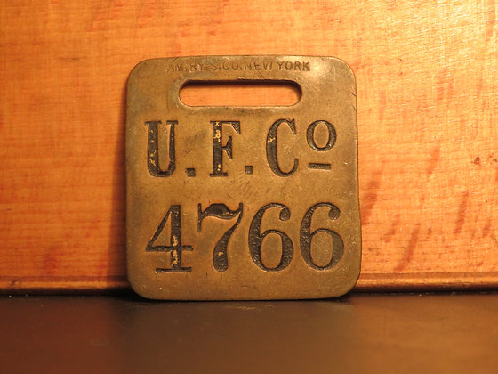 UFCO Brass Luggage Tag 4766