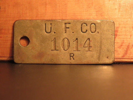 UFCO Brass Inventory Tag 1014