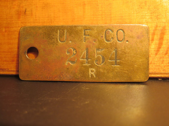 UFCO Brass Inventory Tag  2454