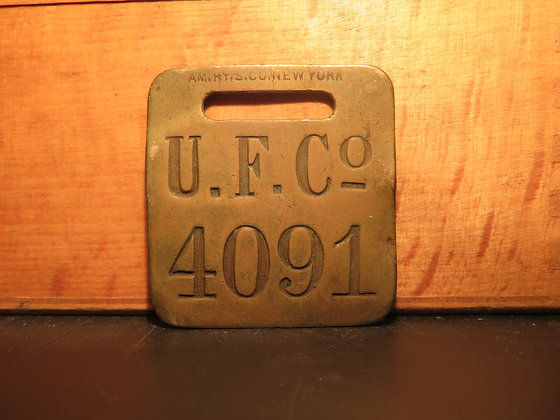 UFCO Brass Luggage Tag 4091