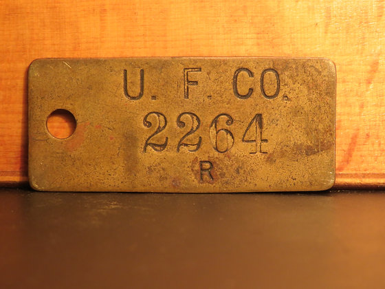 UFCO Brass Inventory Tag 2264