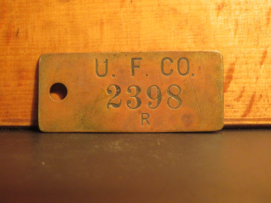 UFCO Brass Inventory Tag E2398