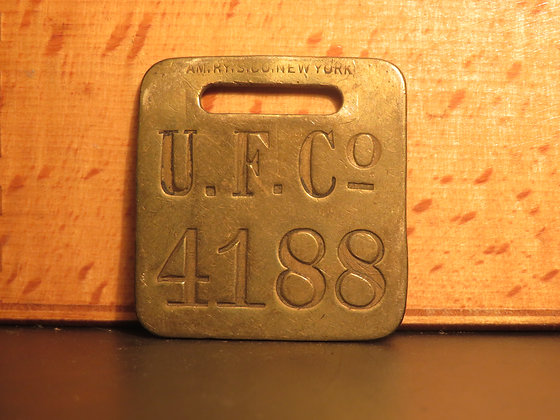 UFCO Brass Luggage Tag F4188
