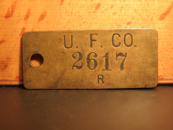 UFCO Brass Inventory Tag 2617