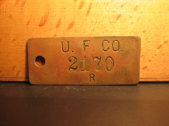 UFCO Brass Inventory Tag 2170