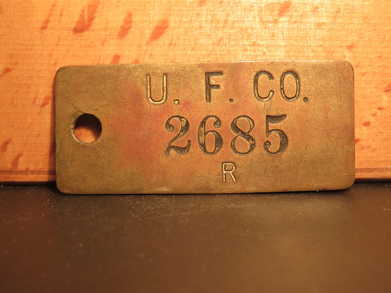 UFCO Brass Inventory Tag 2685
