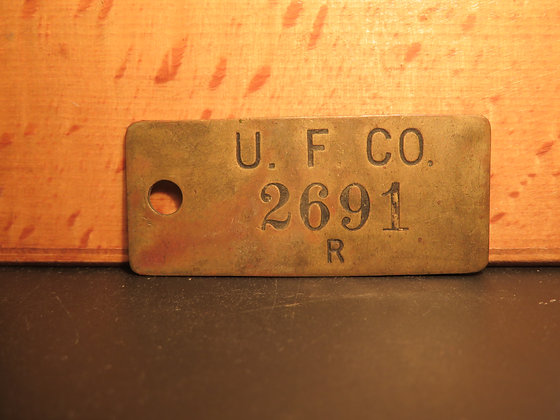 UFCO Brass Inventory Tag 2691