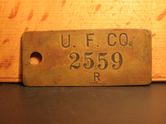 UFCO Brass Inventory Tag 2559