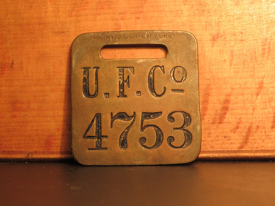 UFCO Brass Luggage Tag 4753