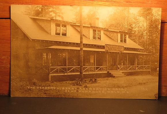The Herbert Berry Recreation Hall, Weld, Maine