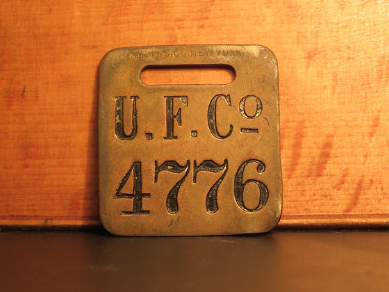 UFCO Brass Luggage Tag 4776