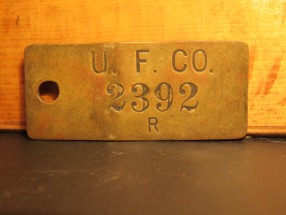 UFCO Brass Inventory Tag  2392