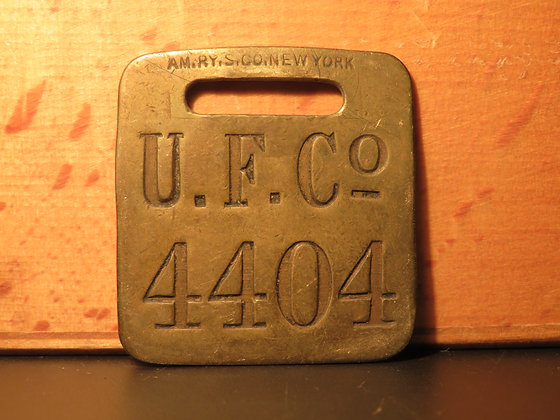 UFCO Brass Luggage Tag 4404