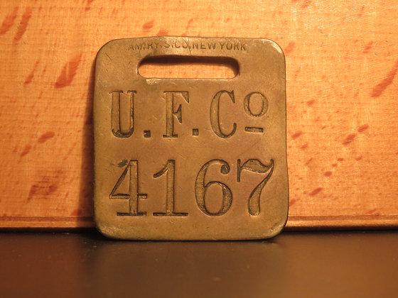 UFCO Brass Luggage Tag F4167
