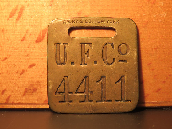 UFCO Brass Luggage Tag 4411