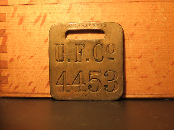 UFCO Brass Luggage Tag 4453