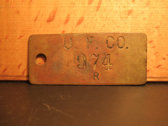Brass Inventory Tag 974