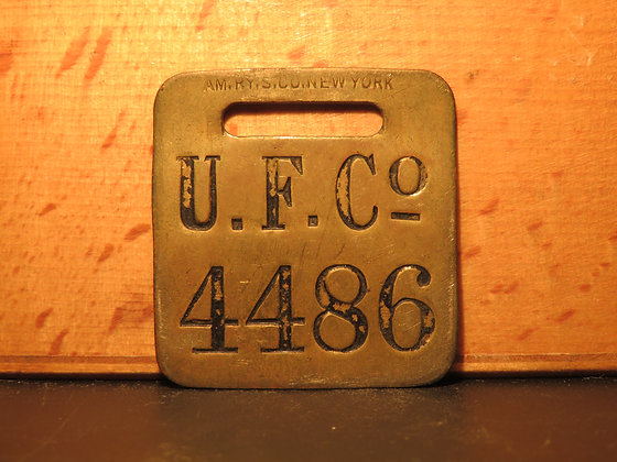 UFCO Brass Luggage Tag 4486