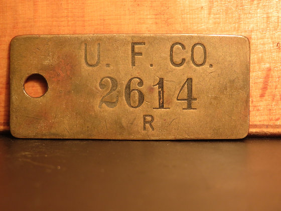 UFCO Brass Inventory Tag 2614