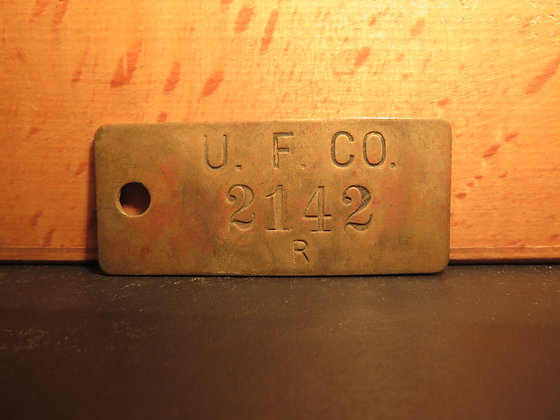 UFCO Brass Inventory Tag 2142