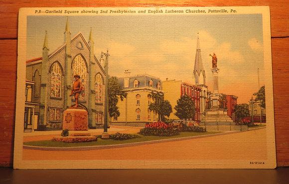 Garfield Square, 2nd Presbyterian & English Lutheran, Pottsville,Pennsylvania