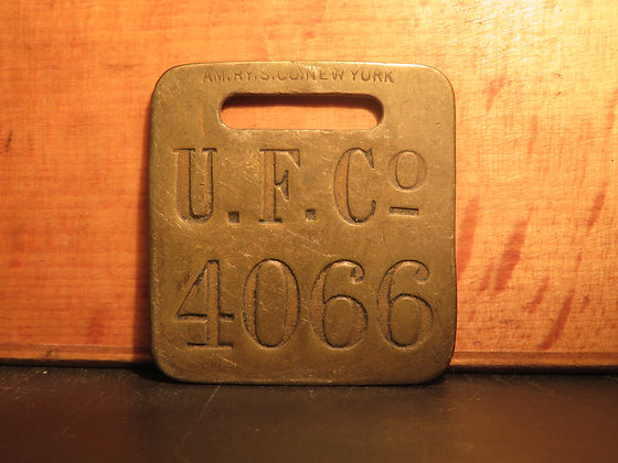 UFCO Brass Luggage Tag 4066