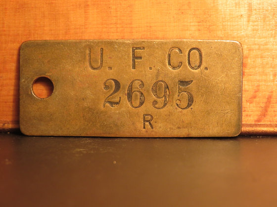 UFCO Brass Inventory Tag 2695