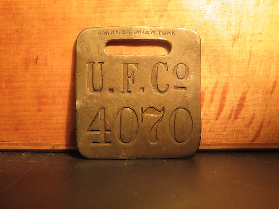 UFCO Brass Luggage Tag 4070