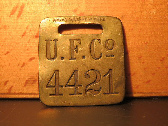 UFCO Brass Luggage Tag 4421