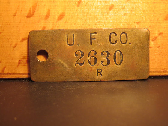 UFCO Brass Inventory Tag 2630