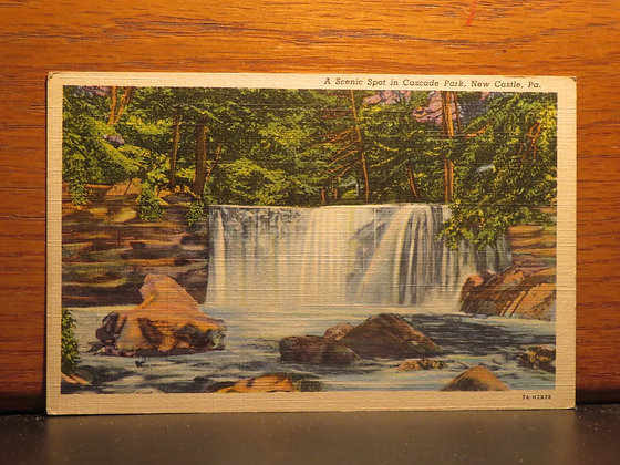 A scenic Spot in Cascade Park, New Castle, Pennsylvania