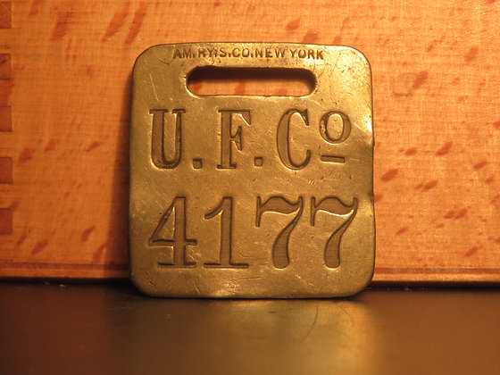 UFCO Brass Luggage Tag F4177