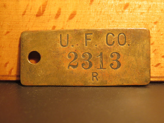 UFCO Brass Inventory Tag 2313