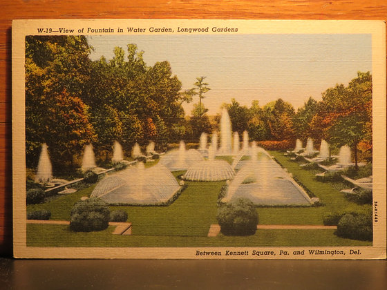 View of Water Gardens, Longwood Gardens, Pennsylvania
