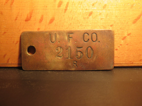 UFCO Brass Inventory Tag 2150