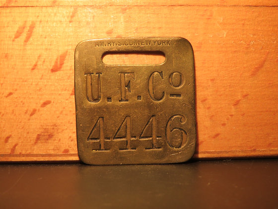 UFCO Brass Luggage Tag 4446