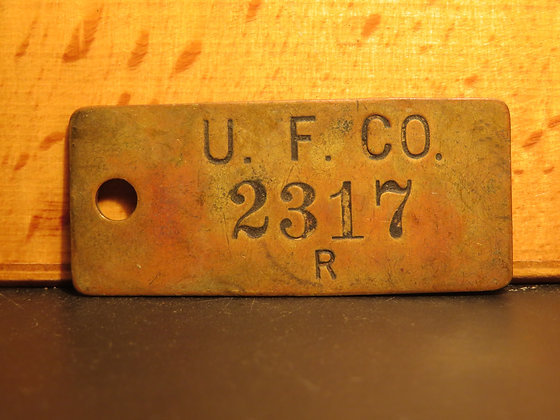 UFCO Brass Inventory Tag 2317