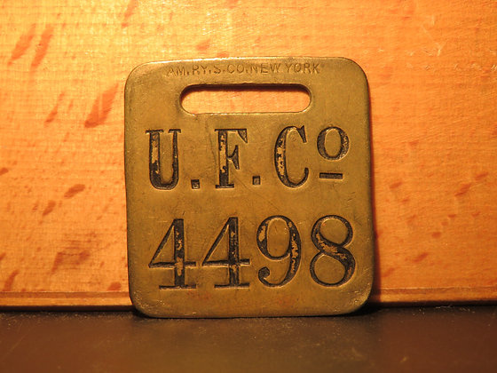 UFCO Brass Luggage Tag 4498