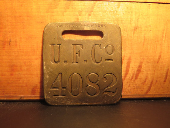 UFCO Brass Luggage Tag 4082