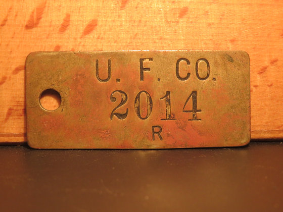 UFCO Brass Inventory Tag  2014